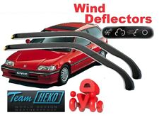 HONDA CIVIC 1988-1992 3 Doors Hatchback Wind Deflectors 2 pcs. HEKO (17121)