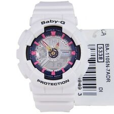 CASIO BABY-G LADIES WATCH BA-110SN-7A FREE EXPRESS WHITE BA-110SN-7ADR DIGITAL