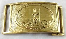 Confederate Virginia Civil War Antique Reproduction Polished Brass Belt Buckle