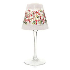YANKEE CANDLE SNOWBERRY CRACKLE GLASS FROSTED TEA LIGHT CANDLE LAMP NIB VHTF