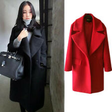 Women Lady Thicken Winter Warm Trench Coat Parka Overcoat Long Jacket Outwear M