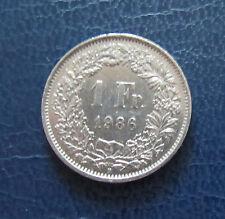 Münze 1 Schweizer Franken 1986 aus Umlauf gültiges Zahlungsmittel Sammler