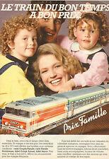 Publicité 1983  SNCF le train à bon prix !  Prix famille