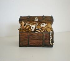 Pirate Treasure Chest Coin Bank Table Top Nautical Decor Piggy Bank