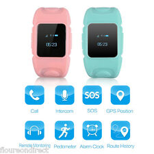 US Kids Smart Watch GPS SOS Call Pedometer Remote Monitoring for Android iOS SIM