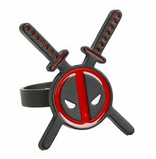 Marvel DEADPOOL SWORDS LOGO RING SIZE 6 Cosplay Officially Licensed