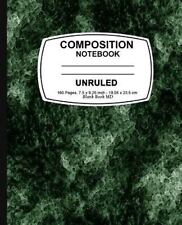 Unruled Composition Notebook : Green Marble, Unruled Composition Notebook, 7....