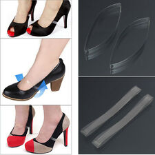 1 Pair Transparent Invisible High Heel Shoe Straps For Holding Loose shoes 9c