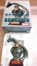 """2002 Marvel Art Asylum Rogues Gallery Scorpion Bust Statue 8"""" With COA 944/6500"""