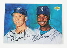 1994 Upper Deck Mickey Mantle / Ken Griffey Jr. On Card Dual Auto UDA