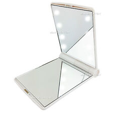 Cosmetic LED Make Up Mirror Folding Portable Compact Pocket 8 LED Lights 1005W