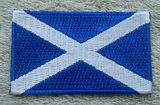 SCOTLAND FLAG PATCH Embroidered Badge Iron/Sew on 4.5cm x 6cm Saltire St Andrew