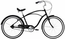 Alpha Plus Surge Mens Beach Cuiser Bicycle - BLACK - Amsterdam Style Bike