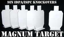 9in. IDPA Knockover Targets - 6 pc. 1/4in.Thk. .22LR Rim-fire/Air Rifle Targets
