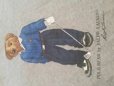 Vintage 1990's Polo Bear by Ralph Lauren Golfing S/S Gray T-Shirt P-Wing (XL)