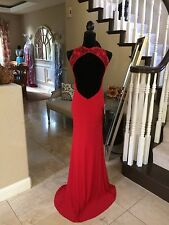 $338 NWT RED NIGHT MOVES BY MADISON JAMES PROM/PAGEANT/FORMAL DRESS/GOWN #CB51 8