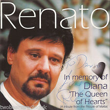"RENATO - In Memory Of Diana ""The Queen Of Hearts"" EP (Signed Maltese CD Single)"