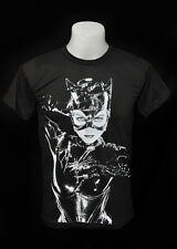 Catwoman movie dark grey punk rock crew 100% soft cotton tee t-shirt size L