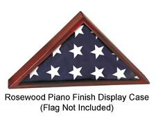 5' x 9-1/2' Flag Display Case - Rosewood Piano Finish