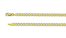 100% 10K Yellow Gold Concave Curb Cuban Link Bracelet 7 inch - 3.9mm Wide