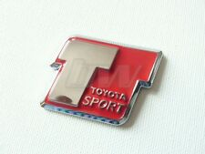 RED TOYOTA SPORT T SPORT BADGE MR2 CELICA VVTI GT86 AYGO YARIS 4RUNNER