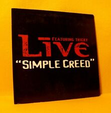 Cardsleeve Single CD LIVE FEATURING TRICKY Simple Creed 2TR 2001 alt rock pop