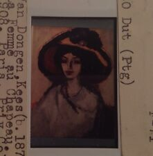 "Kees Van Dongen ""La Femme Au Chapeau"" 35mm Dutch Fauves Painting Slide"