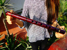 PROFESSIONAL NATIVE AMERICAN STYLE FLUTE MAHOGANY IN  (G) & INDIAN  CASE  NEW