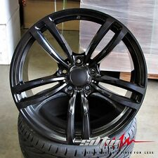 "19"" Satin Black Wheels fits BMW 5 6 Series 530 535 550 640 650 M6 Style 437 Rims"
