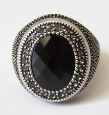 SU6 Premier Designs Jewelry Onyx Ring Size 7 RV$49