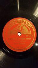 PIANO 78 rpm RECORD La Voz de su Amo MORIZ ROSENTHAL Mazurka CHOPIN