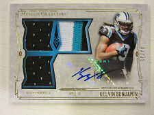 2014 Topps Museum Collection Triple Relic Auto Rookie Card Kelvin Benjamin 02/25