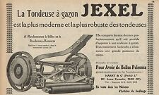Y7214 Tondeuse à gazon JEXEL - Pubblicità d'epoca - 1927 Old advertising