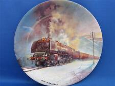 DAVENPORT STEAM TRAIN ROYAL SCOT PLATE & WOODEN FRAME boxed