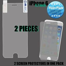 For iPhone 6 / 6S - 2 PIECES of PREMIUM CLEAR SCREEN PROTECTORS FILM GUARD 1-PCK
