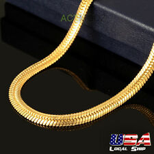 """Fashion Jewelry 24"""" 18k Gold Plated Snake Chain Necklace Choker Boys Men Gifts"""