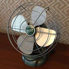 """Vintage Zero Green 9"""" Desk Fan Working"""