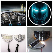 2x LED Ghost Shadow Car SUV Door Step Welcome Lamp Iron Man Logo Projector Light