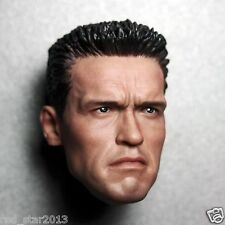 "1/6 Scale Arnold Schwarzenegger T800 Head Sculpt For 12"" Hot Toys Male Body"