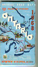 1968 Ontario Province-issued  Vintage Road Map