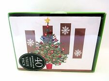 Christmas Holiday Boxed Greeting Cards Assorted Premium 40 ct With 5 designs