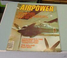 March 1977 Airpower Magazine Roland Fighters Lockheed XR60 Constitution Dinosaur