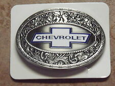 WESTERN EXPRESS CHEVROLET STAINLESS STEEL BELT BUCKLE
