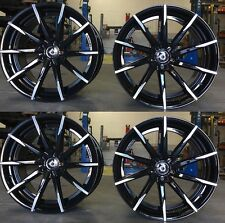 "22"" lexani Staggered Black Wheels Rims Fits Dodge Challenger Magnum Charger"