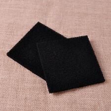 2x 13x13x1cm Square Black Universal Activated Carbon Foam Sponge Air Filter Pad