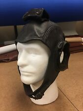 New Leather Headset Flight Helmet In Brown Or Black Calfskin