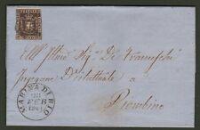 TOSCANA. Lettera 28.2.1861 da Marina di Rio a Piombino affr. cent.10 Gov. Provv.