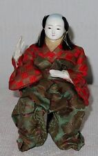 """Antique Japanese Seated 6 3/8"""" Male A Musician Hina Doll BH2#AD4161415.8"""