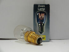 2 x 25watt Crompton Oven Lamps / Cooker Light Bulbs SES E14 - 230v - 300 Degree