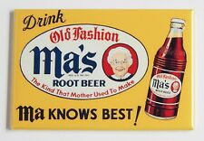 Ma's Root Beer FRIDGE MAGNET (2 x 3 inches) soda sign drink mom mother ma